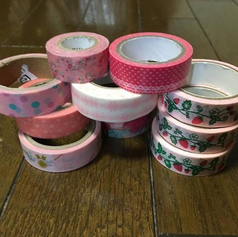 ピンクのマスキングテープ