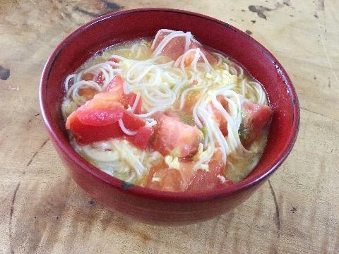【おかずのクッキング実践】図解写真あり!土井善晴先生のトマトそうめん作った